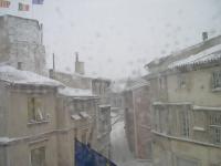 Tulette sous la neige